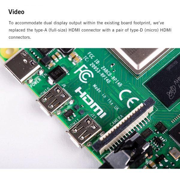 Raspberry Pi 4 Modelo b2 gb/4 gb/8g bcm2711 quad-core Cortex-A72 1.5 ghz com faixa dupla wifi bluetooth 4