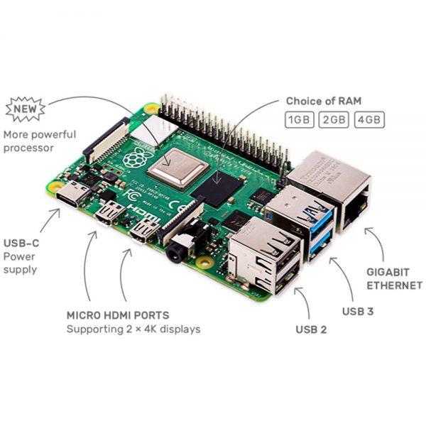 Raspberry Pi 4 Modelo b2 gb/4 gb/8g bcm2711 quad-core Cortex-A72 1.5 ghz com faixa dupla wifi bluetooth 1
