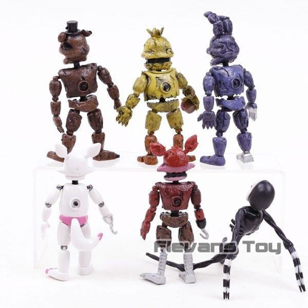 FNAF das Cinco Noites no Freddy Pesadelo Freddy Chica Bonnie Funtime Foxy PVC Figuras de Ação Brinquedos 6 pçs/set 3
