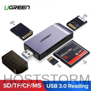 Ugreen usb 3.0 leitor de cartão sd micro sd tf