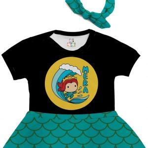 Body de Bebê Personalizado Aquaman Mera 1