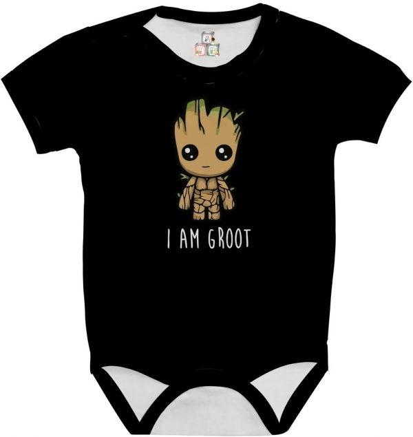 Body de Bebê Personalizado Guardiões da Galaxia Im Groot Cute Fofo 02 1