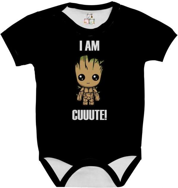 Body de Bebê Personalizado Guardiões da Galaxia Im Groot Cute Fofo 03 1