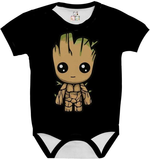 Body de Bebê Personalizado Guardiões da Galaxia Im Groot Cute Fofo 04 1