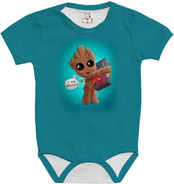 Body de Bebê Personalizado Guardiões da Galaxia Im Groot Cute Fofo 05 1