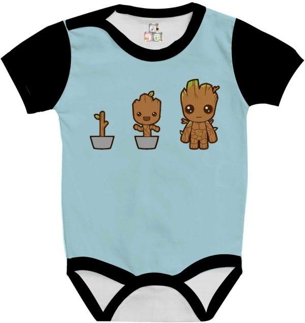 Body de Bebê Personalizado Guardiões da Galaxia Im Groot Cute Fofo 06 1