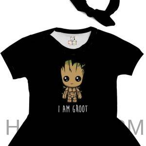 Body de Bebê Personalizado Guardiões da Galaxia Im Groot Cute Fofo 1