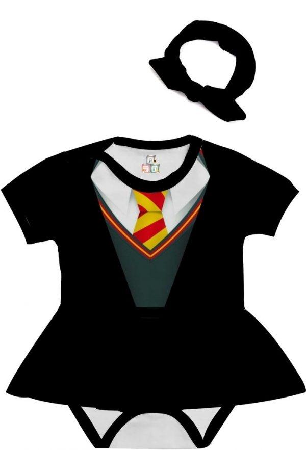 Body de Bebê Personalizado Harry Potter Escolha sua Estampa com Saia e Faixa de Cabelo 01 1