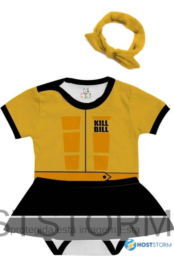 Body de Bebê Personalizado Mamba Negra A Noiva Tarantino Kill Bill 1