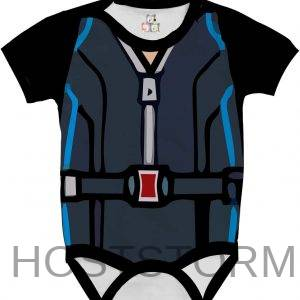 Body de Bebê Personalizado Vingadores Fantasia Avengers Viuva Negra 1