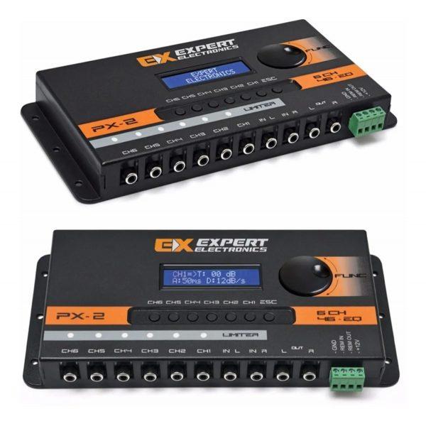 crossover digital banda processador audio 6 vias expert px2 04