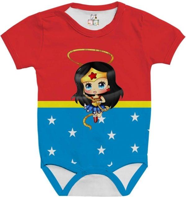 Body de Bebê Personalizado Super Heroína Fantasia Mulher Maravilha 05