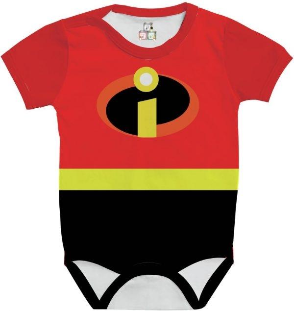 Body de Bebê Personalizado com Saia E Faixa de Cabelo Os Incríveis 02