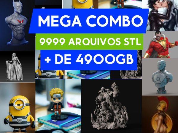 mega combo 9999 arquivos stl para impressora 3d anime marvel