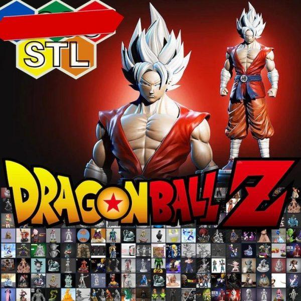 pack de stl para impressao 3d dragon ball z