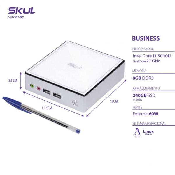 nano computador business b300 i3 5010u 2.1ghz mem 8gb ddr3 sodimm ssd 240gb wi fi fonte externa