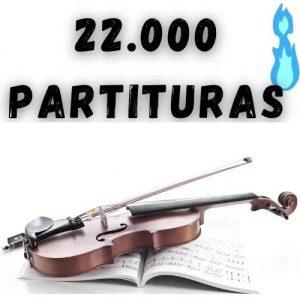 22 mil partituras de violino bonus