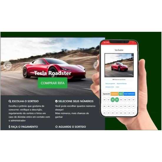 site de rifas online sorteios de loterias templete wordpress